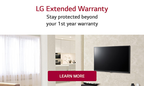 LG Extended Warranty - Stay protected beyond your 1st year warranty